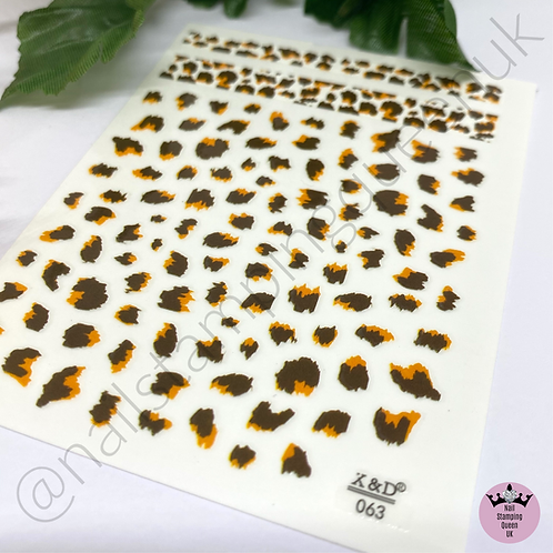 Animal Print Accent Stickers