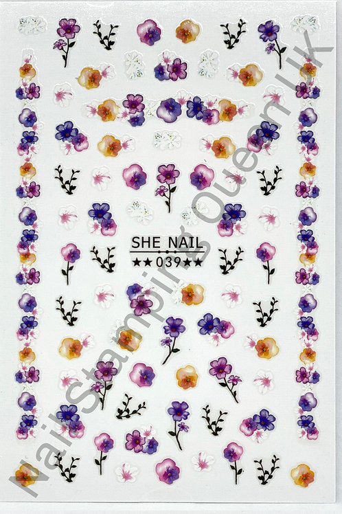 Watercolour Flowers Stickers