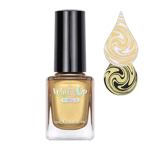 Whats Up Nails - Go for Gild Stamping Polish