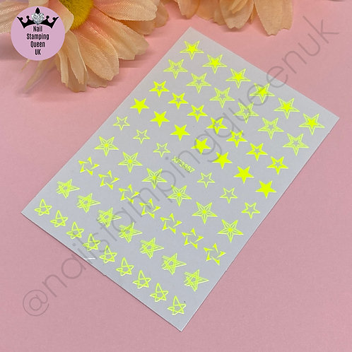 Star Stickers - Neon Yellow