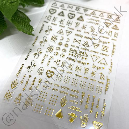 Zen Stickers ~Gold