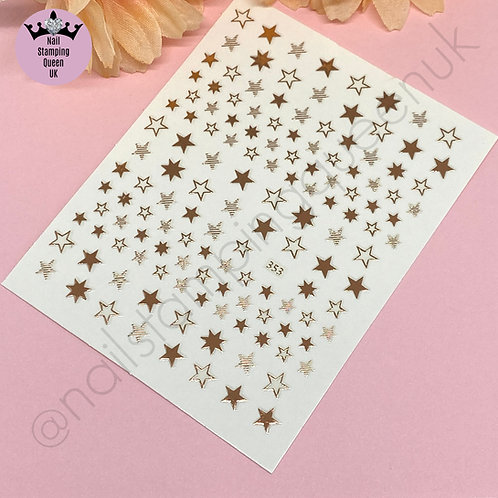 Star Stickers - Metallic Rose Gold