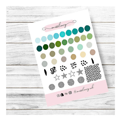 Abstract Nail Water Decals - Miss Lucy