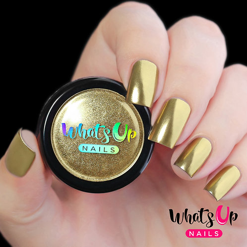 Whats Up Nails Gold Chrome Powder