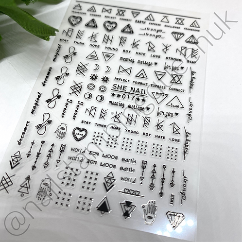 Zen Stickers ~ Black