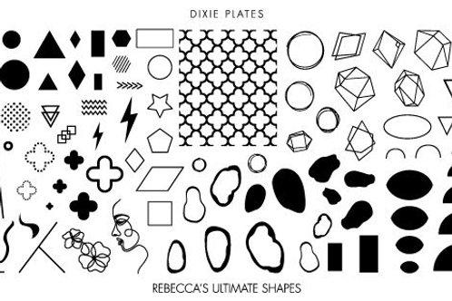 Dixie Mini Rebecca Ultimate Shapes Plate