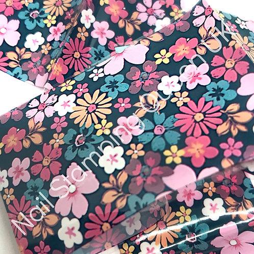 Funky Floral Transfer Foil