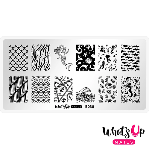 Whats Up Nails Lost at Sea Stamping Plate
