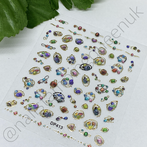 Nail Jewel Stickers - #413