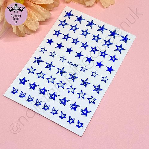Star Stickers - Metallic Blue