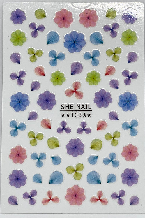 Watercolour Floral Stickers