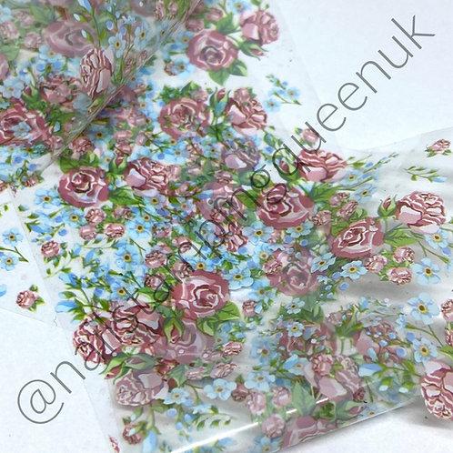 Garden Rose Transfer Foil
