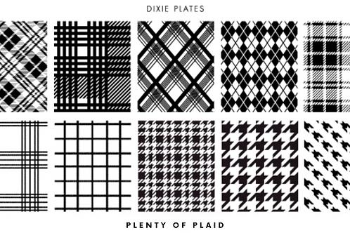 Dixie Mini Plenty of Plaid Plate