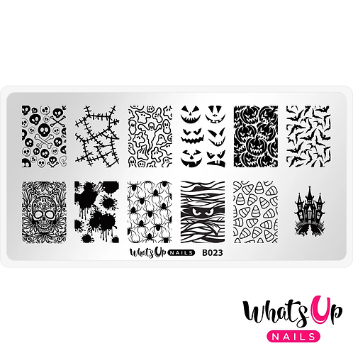 Whats Up Nails Creepin' it Real Stamping Plate