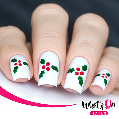 Whats Up Nails - Holly Stencils - 2 Pack