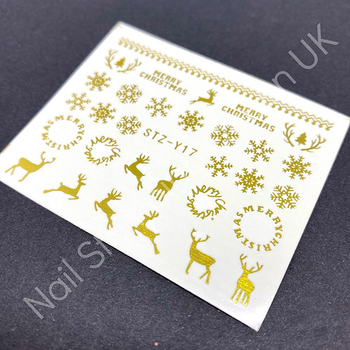 Christmas Metallic Water Decal