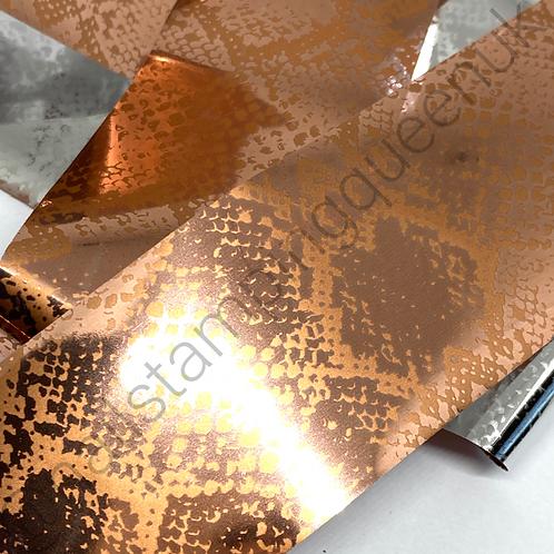 Rose Gold Snake Print Transfer Foil