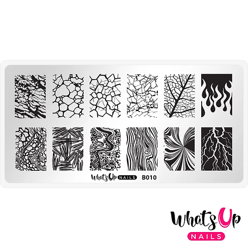 Whats Up Nails Texture Me Nature Stamping Plate