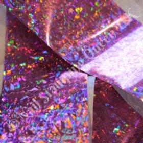 Pink Crackle Transfer Foil