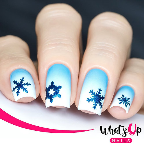 Whats Up Nails - Jolly Snowflake Stencils (Gold) - 2 Pack