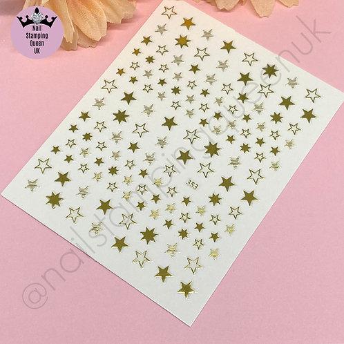Star Stickers - Metallic Gold