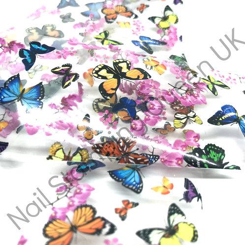 Butterfly Garden Transfer Foil