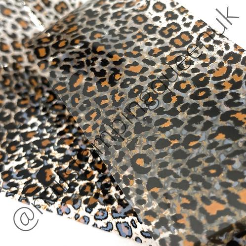 Brown Leopard Transfer Foil