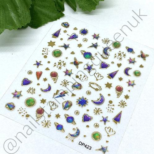Nail Jewel Stickers - #423