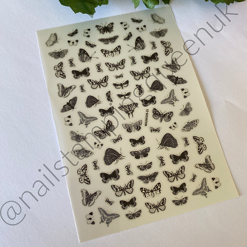 Butterfly Monochrome Stickers