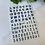 Thumbnail: Old English Font Stickers Metallic - 3 Colours