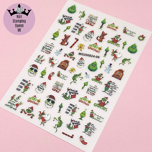 The Grinch Stickers