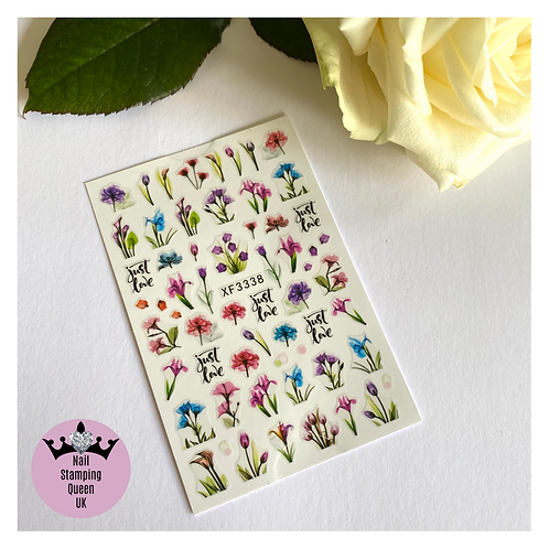 Summer Flowers Stickers