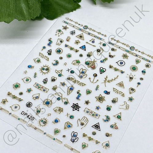 Nail Jewel Stickers - #420