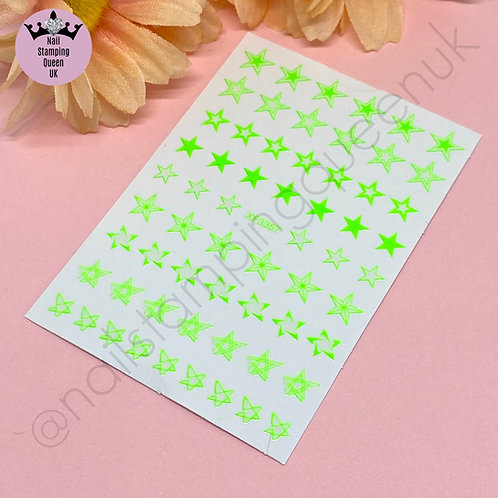 Star Stickers - Neon Green