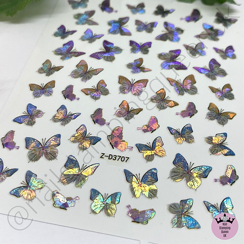 Holo Butterfly Stickers