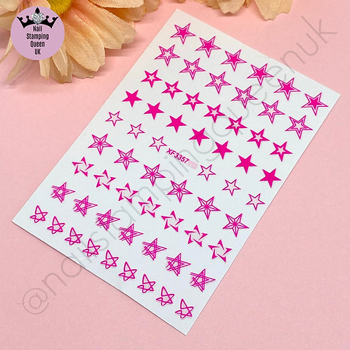 Star Stickers - Neon Pink