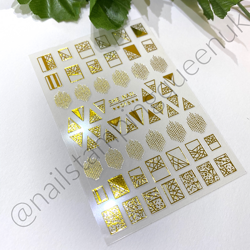 Mosaic Gold Stickers