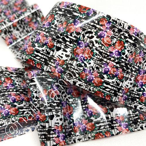 Floral Plaid Transfer Foil