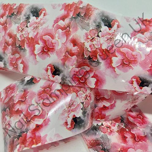 Begonia Floral Transfer Foil