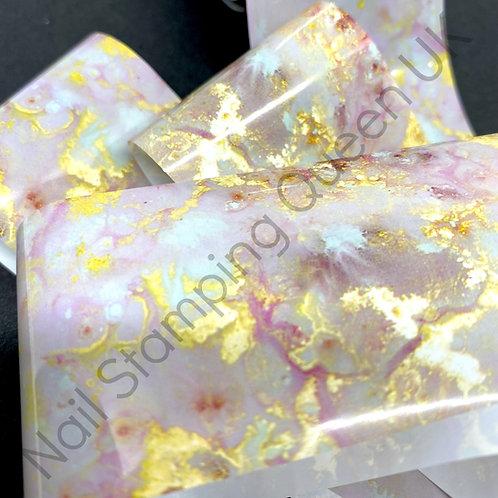 Pink/Grey Galaxy Marble Transfer Foil