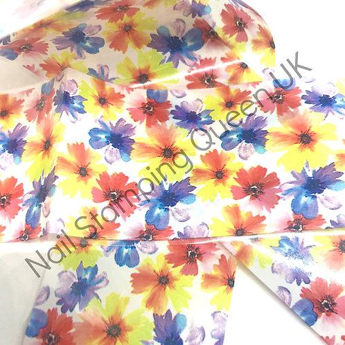 Bright Flower Transfer Foil