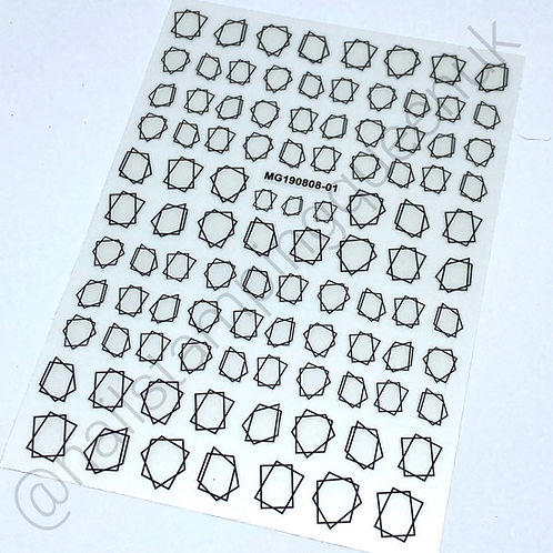 Abstract Frame Stickers - black or white