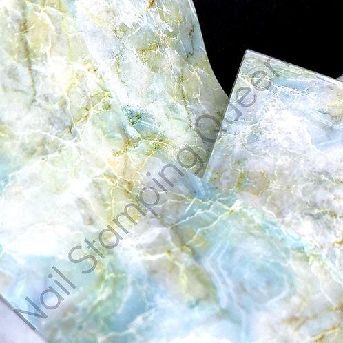 Mint Marble Transfer Foil