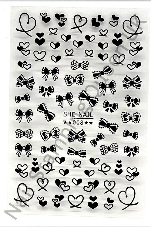 Hearts & Bows Stickers