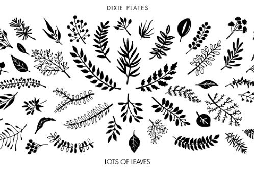 Dixie Mini Lots of Leaves Plate
