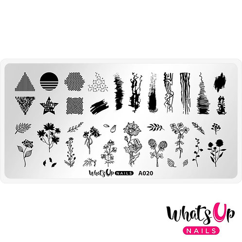 Whats Up Nails Floralize Your Texture Stamping Plate