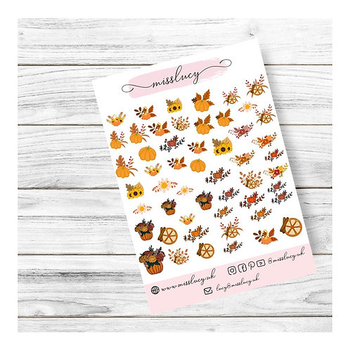 Pumpkin Patch Nail Water Decals - Miss Lucy