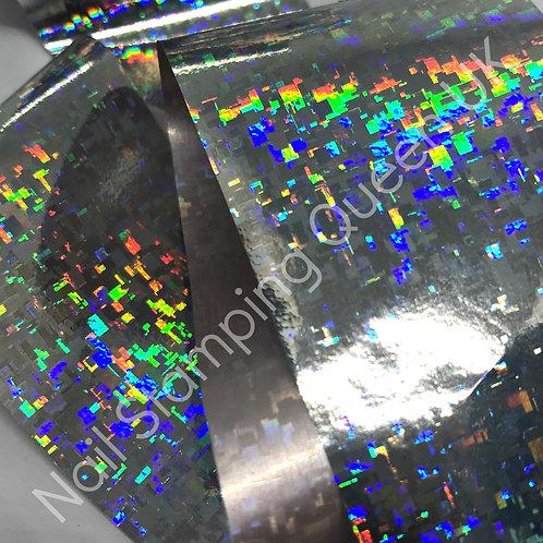 Silver Holo Retro Transfer Foil