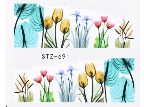 Floral Water Decal