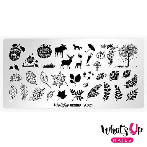 Whats Up Nails Leaf Pile Stamping Plate